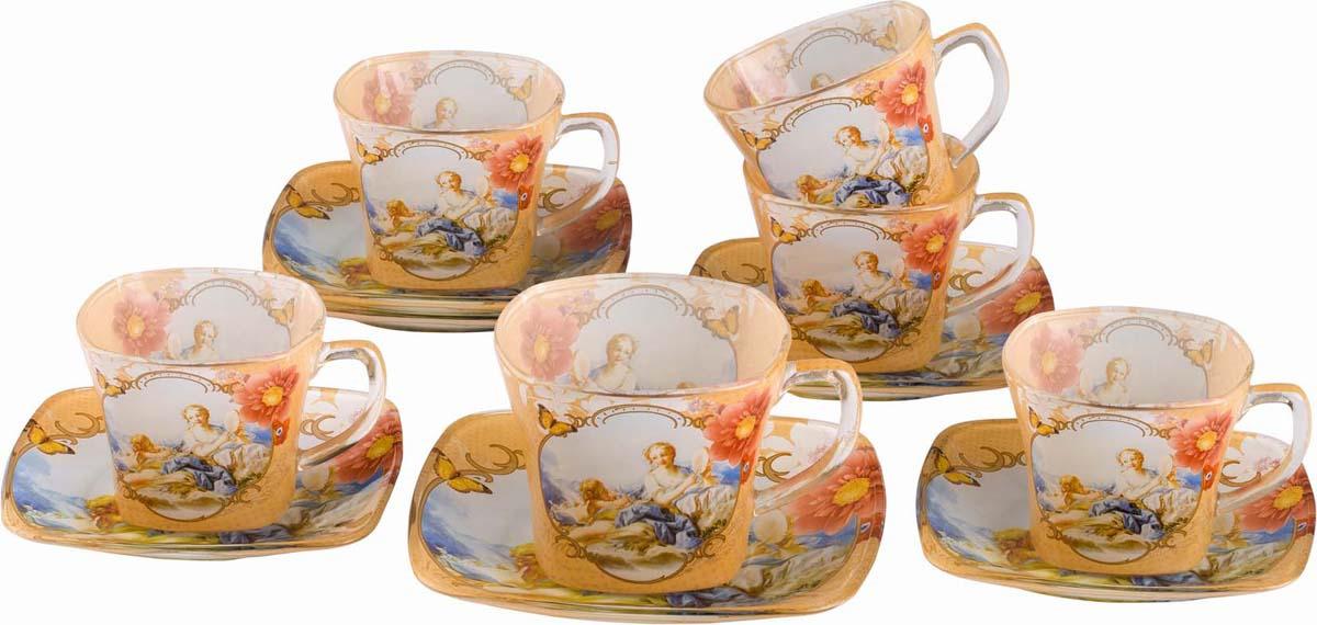 """Набор чайный Bekker """"Koch"""", цвет: пшеничный, голубой, 12 предметов. BK-5857"""