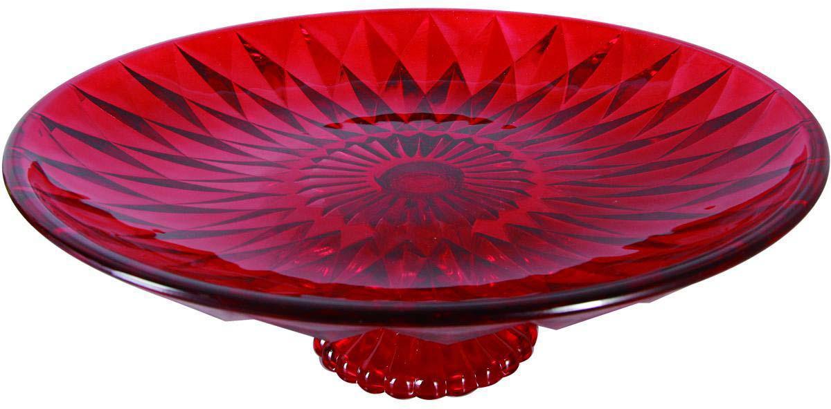 Фруктовница Bekker, цвет: красный, диаметр 32,2 см. BK-7530 фруктовница bekker трехъярусная bk 7510