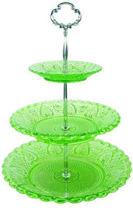 Фруктовница Bekker, цвет: зеленый. BK-7535 фруктовница bekker трехъярусная bk 7510