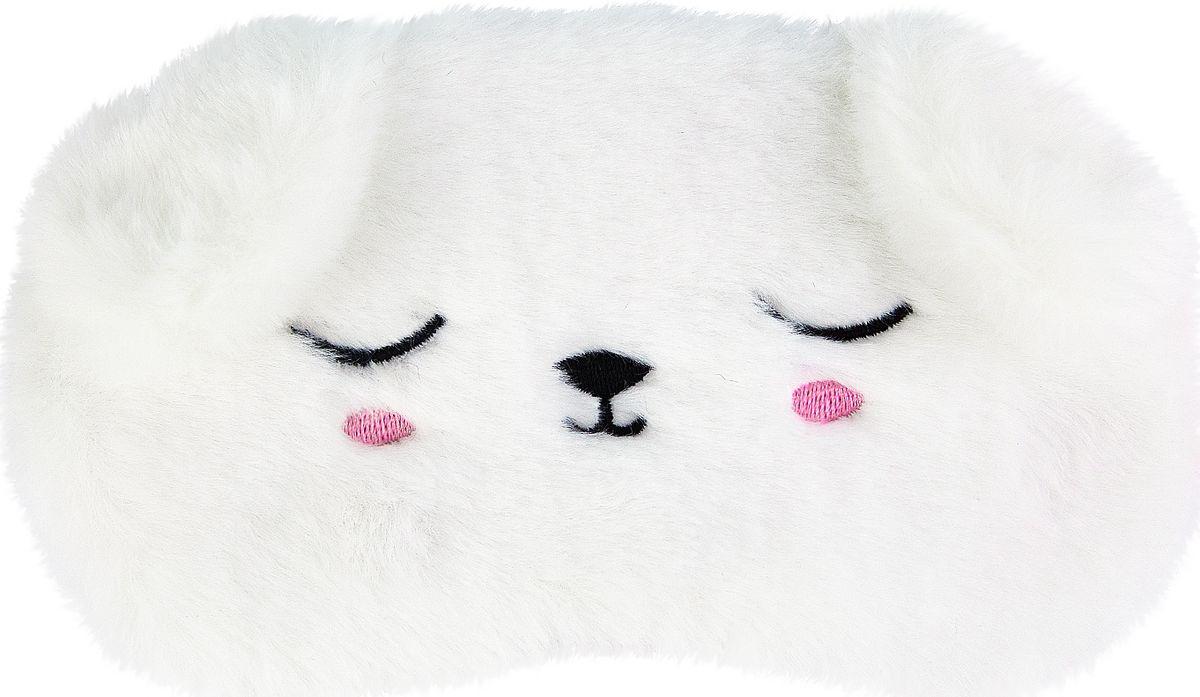 Маска для сна Kawaii Factory Белый мишка, цвет: белый. KW086-001780