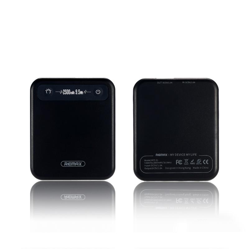 Внешний аккумулятор Remax RPP-51, черный аккумулятор внешний remax flinc rpp 72