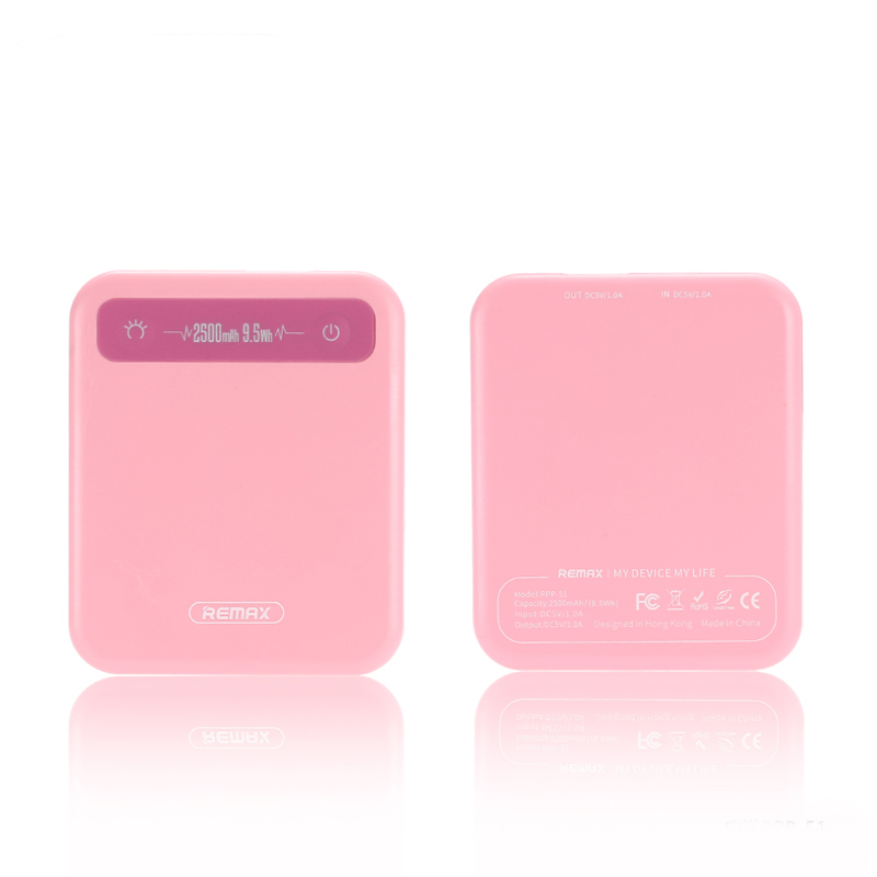 Power Bank 2500 mAh Remax RPP-51 Pink аккумулятор remax proda 30000 mah black