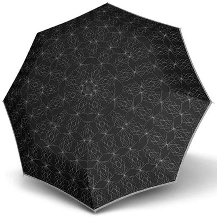 Зонт женский Doppler, 3 сложения, цвет: черный. 744765P зонт doppler 730163 3 yellow