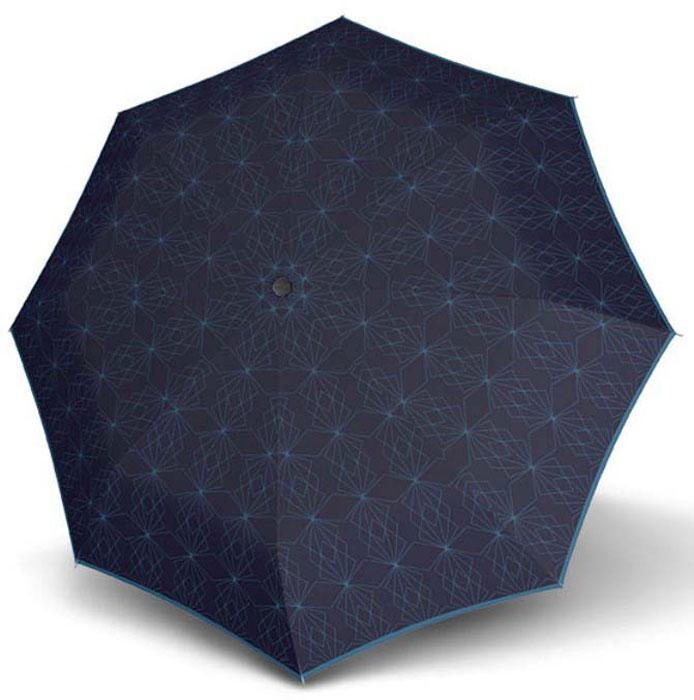 Зонт женский Doppler, 744765P1, 3 сложения, автомат, синй зонт doppler 730163 3 yellow
