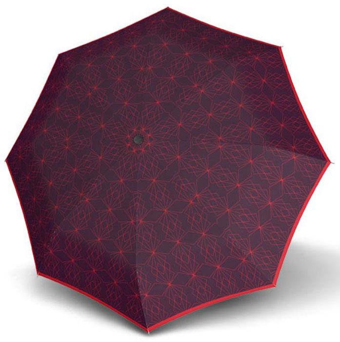 Зонт женский Doppler, 744765P2, 3 сложения, автомат, фиолетовый зонт doppler 730163 3 yellow