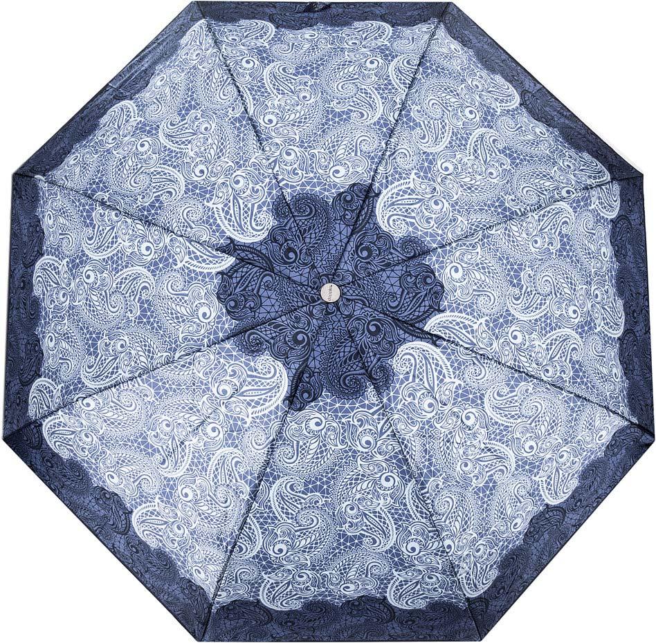 Зонт женский Doppler, 74660FGCE, 3 сложения, автомат, синий зонт doppler 730163 3 yellow