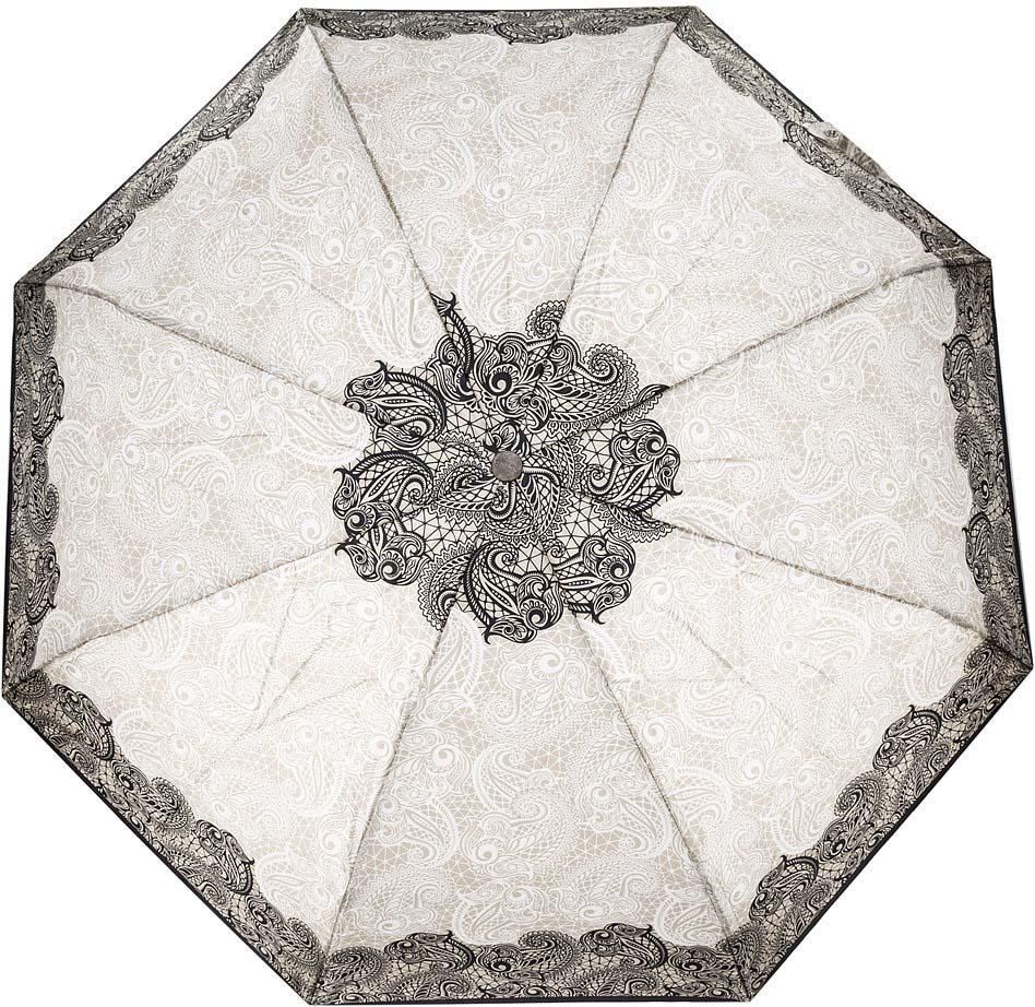 Зонт женский Doppler, 74660FGCE2, 3 сложения, автомат, бежевый зонт doppler 730163 3 yellow