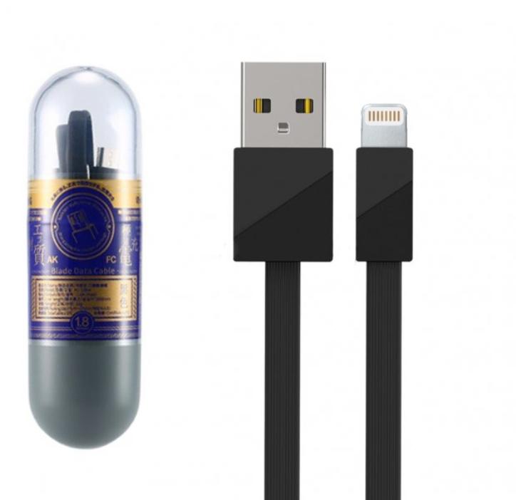 Кабель USB-iP Remax RC-105i Black 1m аксессуар remax knight rc 043i usb lightning для iphone 5 6 7 black