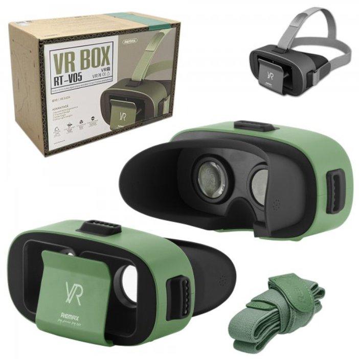 Фото - Очки виртуальной реальности Remax VR Box RT-V05 5.5 Green видео
