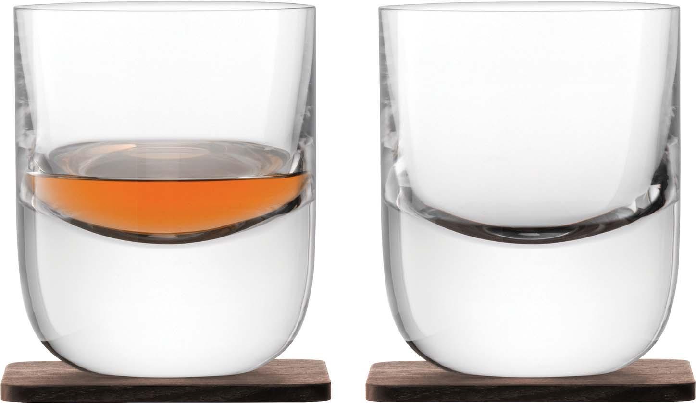 Набор стаканов LSA Renfrew Whisky, с подставками, 270 мл, 4 предмета декантер lsa international flask 0 8 л