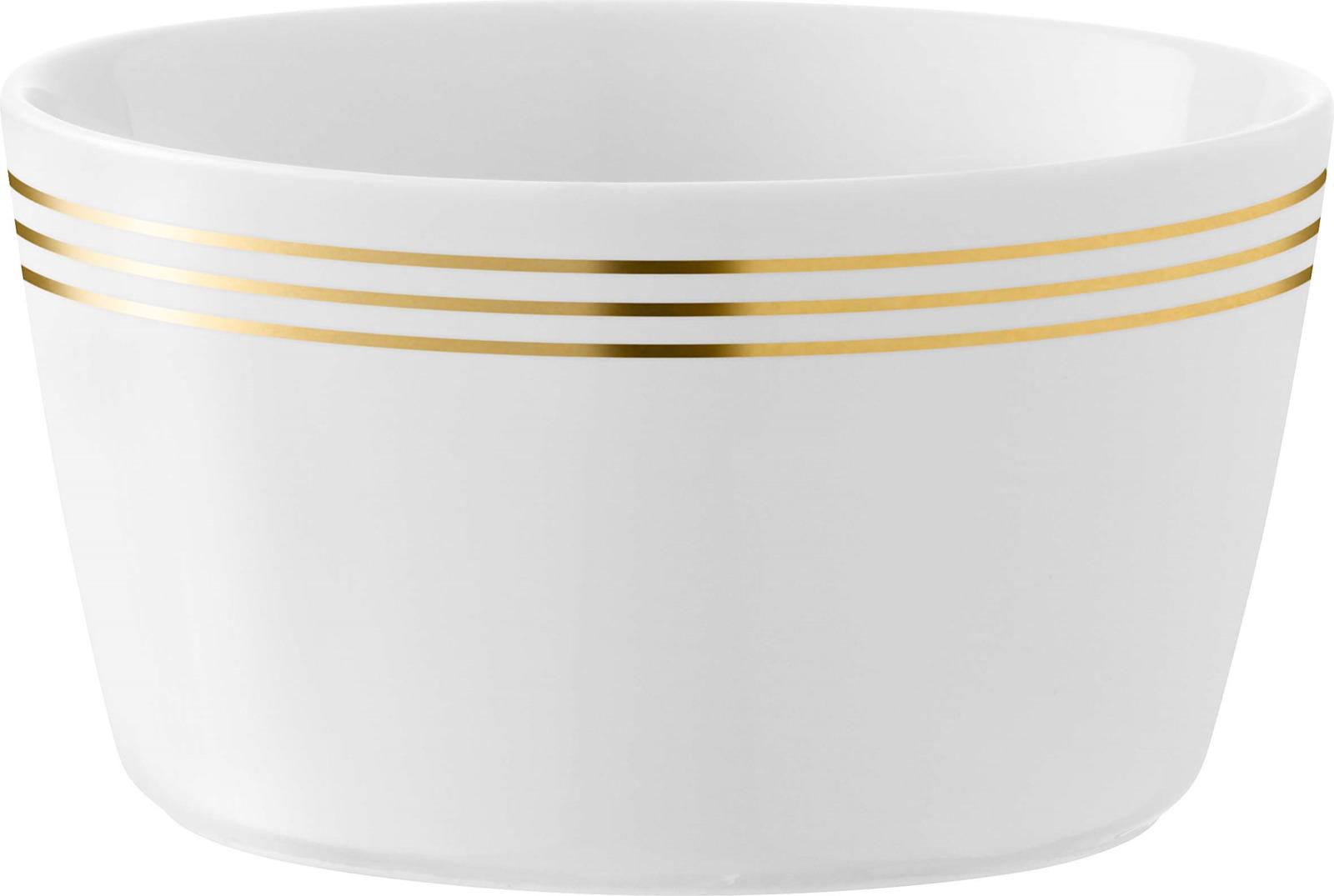 Набор мисок LSA Deco, цвет: золотистый, диаметр 13 см, 4 шт