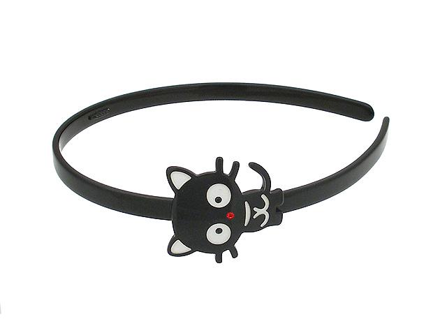 Ободок для волос Magie Accessoires с декоративным элементом - кошка, цвет: черный. цена