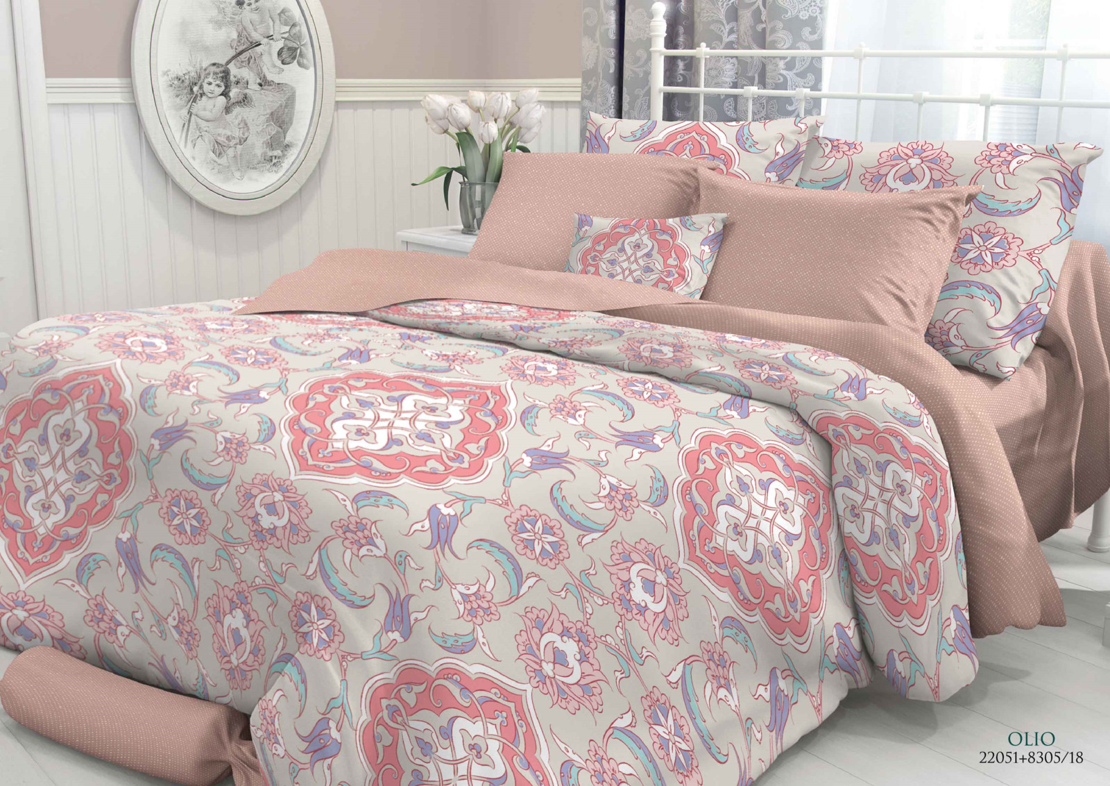 Комплект белья Verossa Olio, 2-спальный, наволочки 70x70