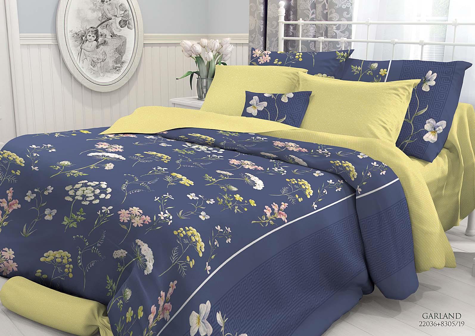 Фото - Комплект белья Verossa Garland, 2-спальный, наволочки 50x70 комплект белья verossa violet 1 5 спальный наволочки 50x70