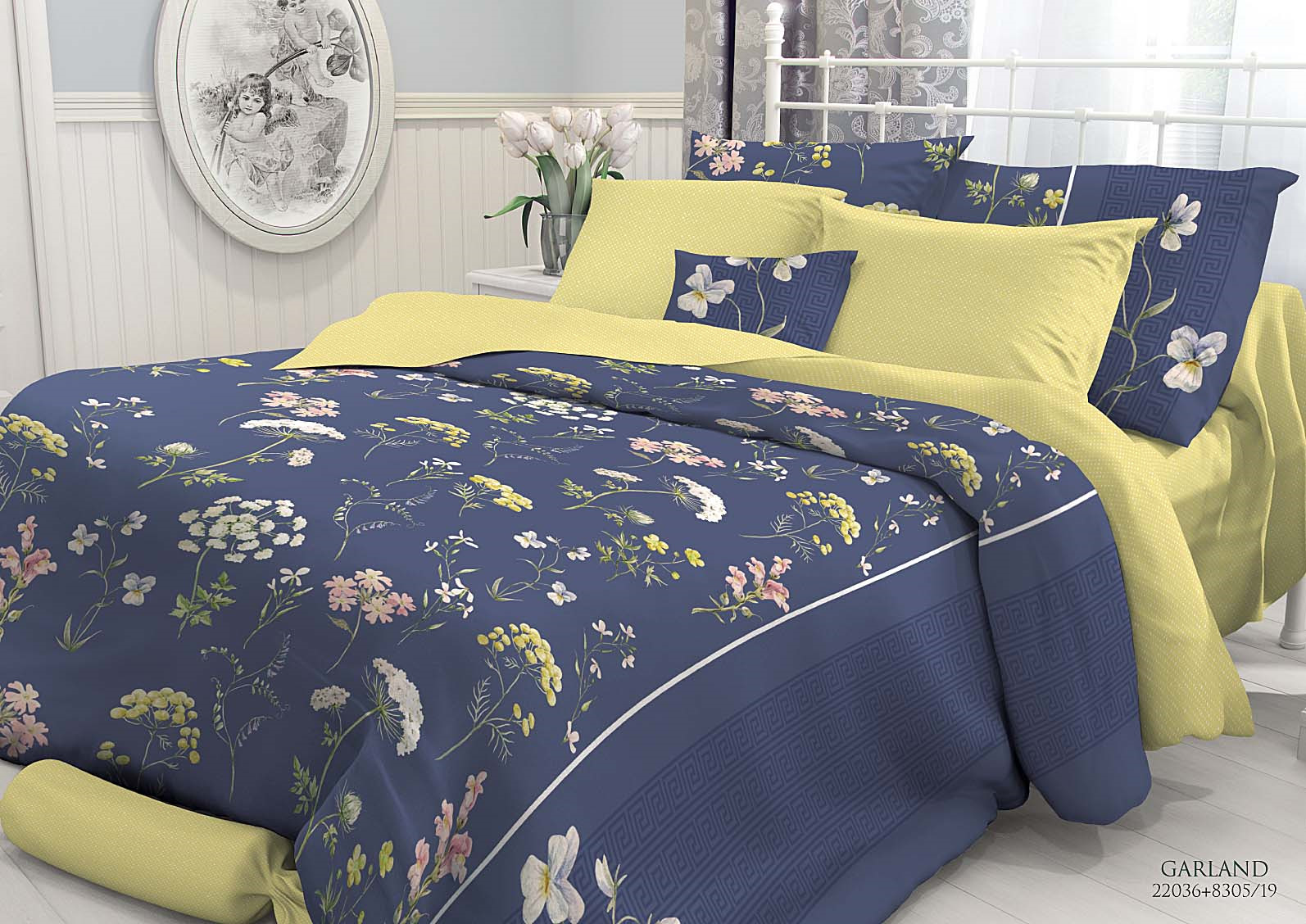 Комплект белья Verossa Garland, 2-спальный, наволочки 70x70 комплект белья verossa gray 2 спальный наволочки 70x70