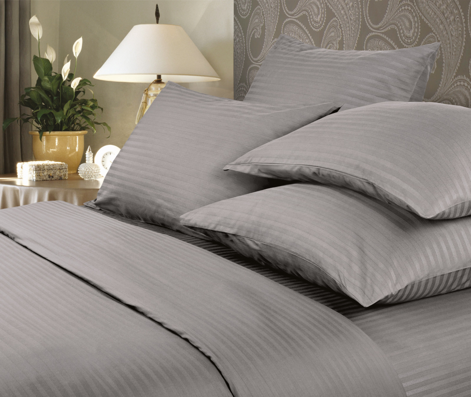 цена Комплект белья Verossa Gray, евро, наволочки 50x70 и 70x70 онлайн в 2017 году