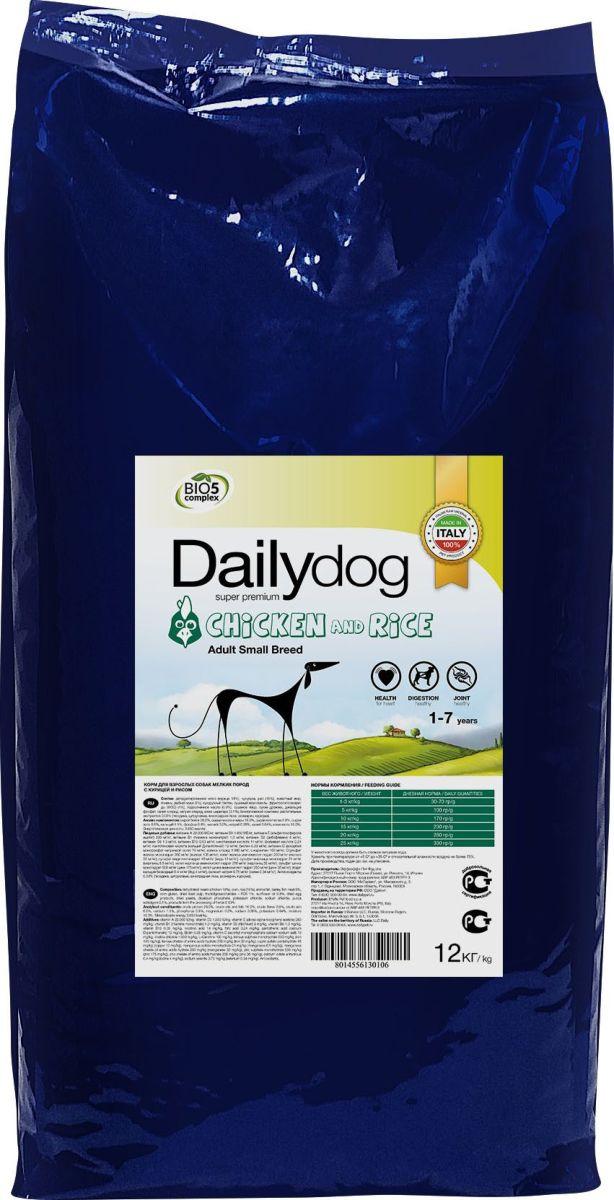 """Корм сухой Daily Dog """"Adult Small Breed Chicken & Rice"""", для взрослых собак мелких пород, с курицей и рисом, 12 кг"""