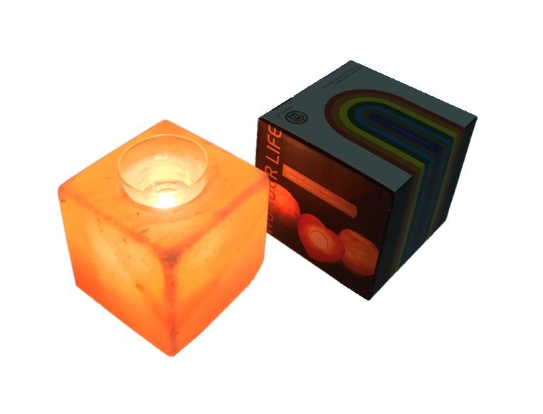 Фото - Настольный светильник Wonder Life Солевая АРОМА лампа Кубус, розовый изделия из камня чаша для арома масел из талькохлорита sawo r 501