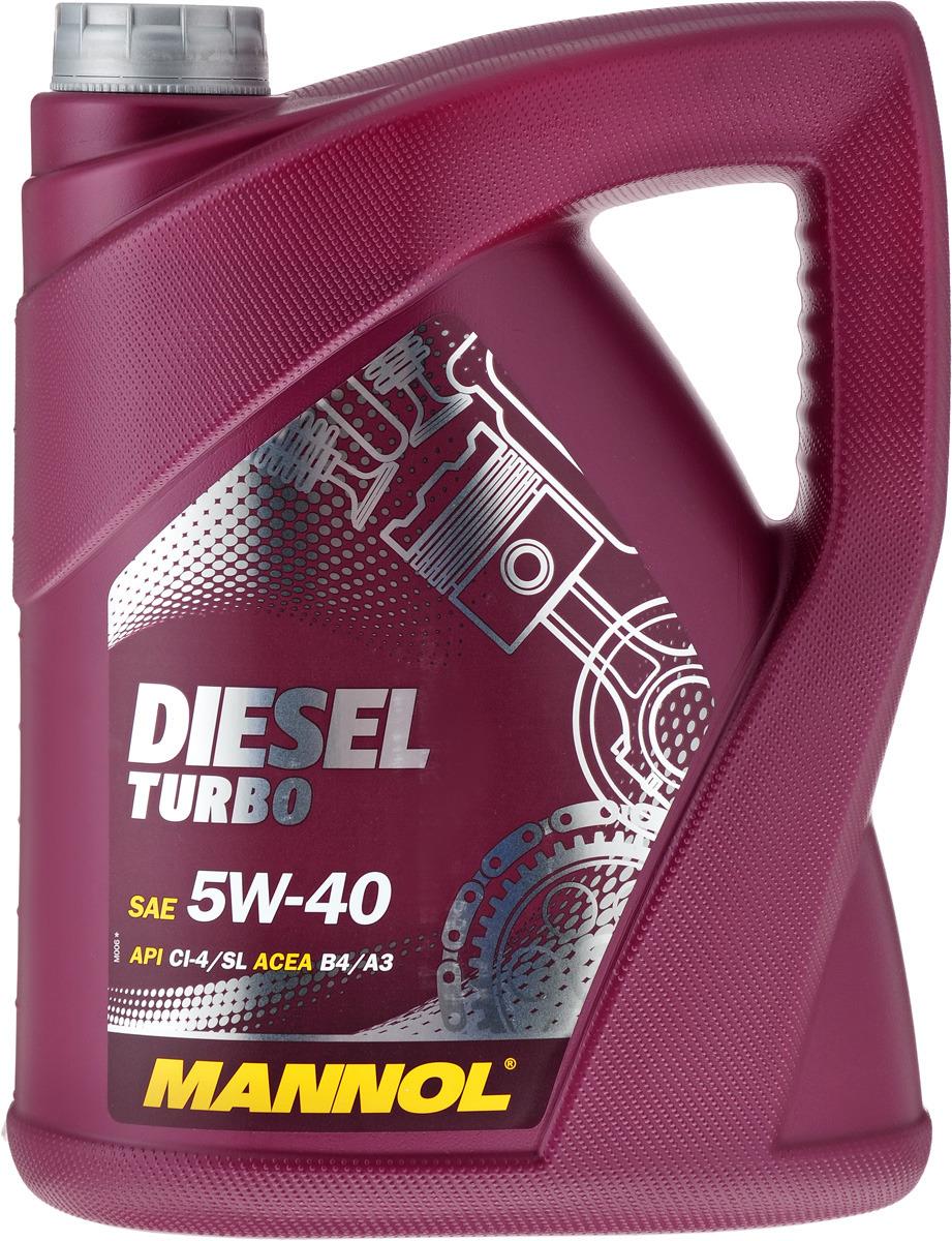 "Моторное масло MANNOL ""Diesel Turbo"", 5W-40, API CI-4/SL, синтетическое, 5 л"