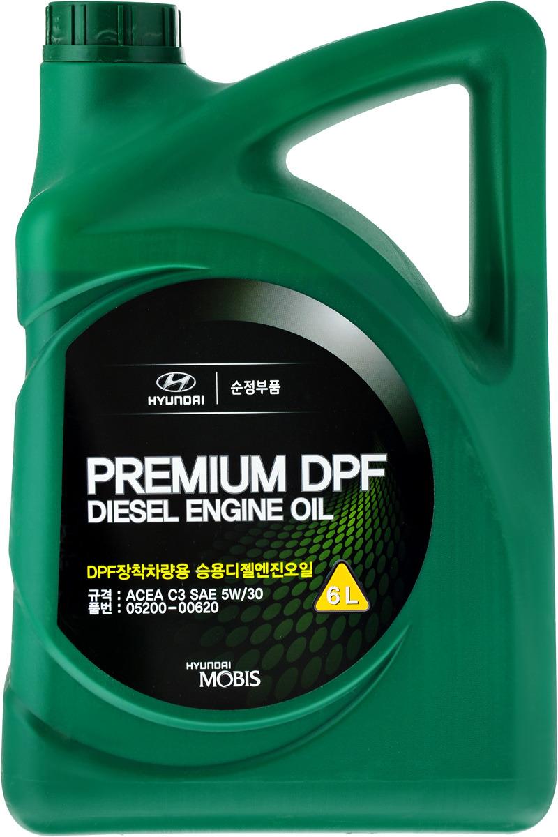 "Масло моторное Hyundai / KIA ""Premium DPF Diesel"", синтетическое, класс вязкости 5W30, 6 л"