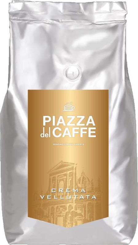 Кофе в зернах Piazza del CaffeE Crema Vellutata, 1 кг кофе в зернах caffe carraro crema italiano 1 кг