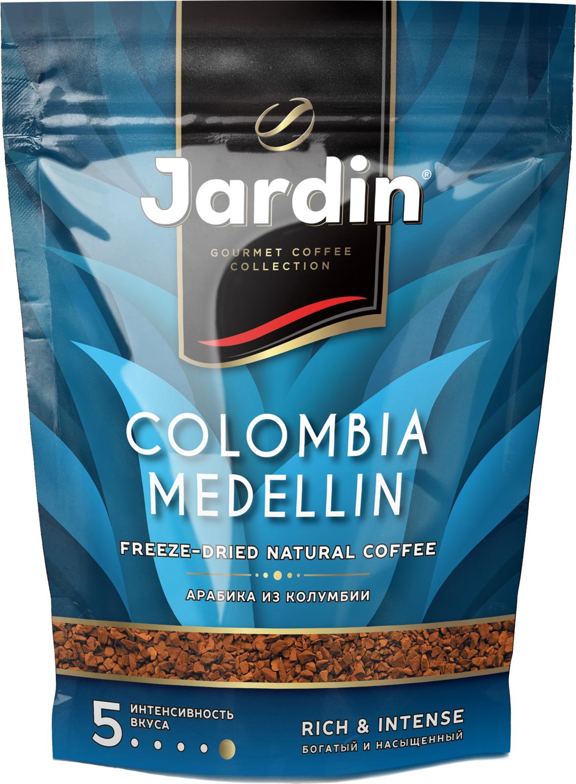 Jardin Colombia Medellin кофе растворимый сублимированный, 240 г кофе растворимый put coffee in de colombia сублимированный 75 г