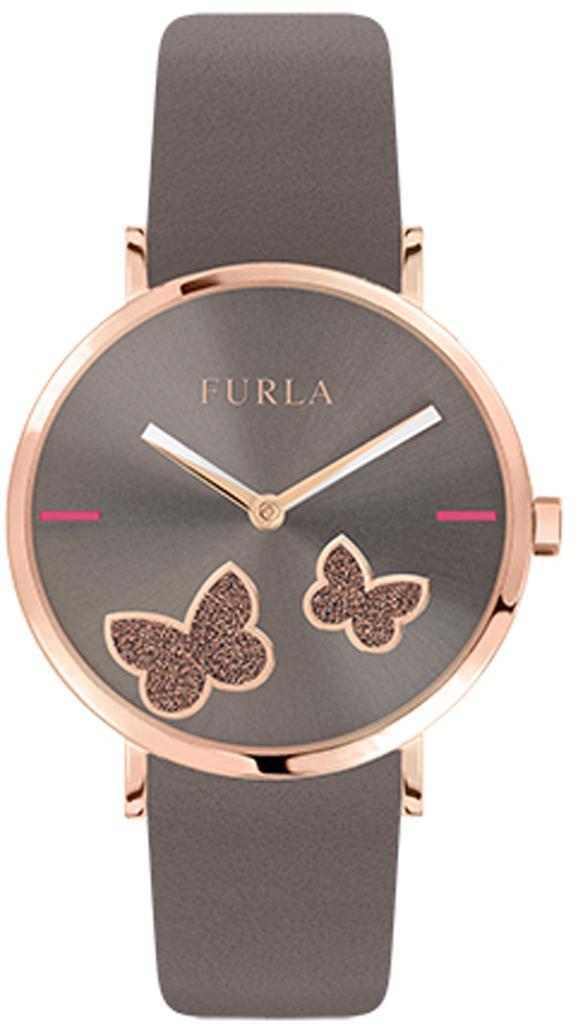 лучшая цена Часы наручные женские Furla Giada Butterfly, цвет: коричневый. R4251113510