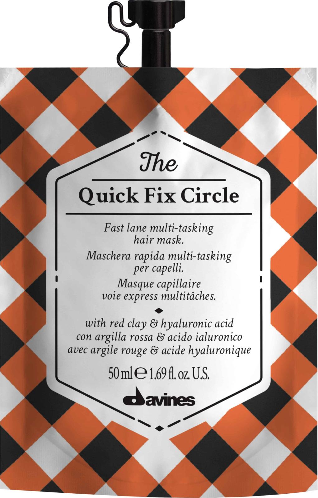 Супербыстрая многофункциональная маска Davines The Quick Fix Circle, 50 мл сша lijia fen гиалуроновой кислоты увлажняющей маски 26г увлажняющая маска монолитных нагруженное