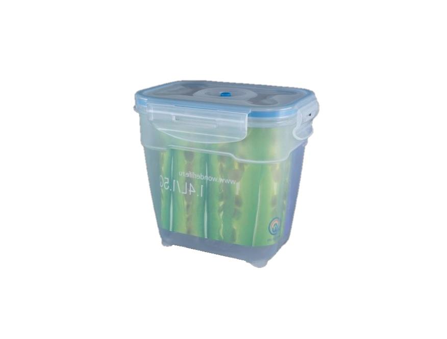 Пищевой вакуумный контейнер Wonder Life, WL-1400-P, 1.4 л контейнер пищевой вакуумный bekker koch прямоугольный 1 1 л