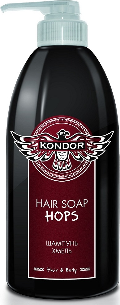 Шампунь для волос Kondor Hair&Body Хмель, 750 мл kondor hair and body hair soap tobacco шампунь для мужчин универсальный с табаком 750 мл