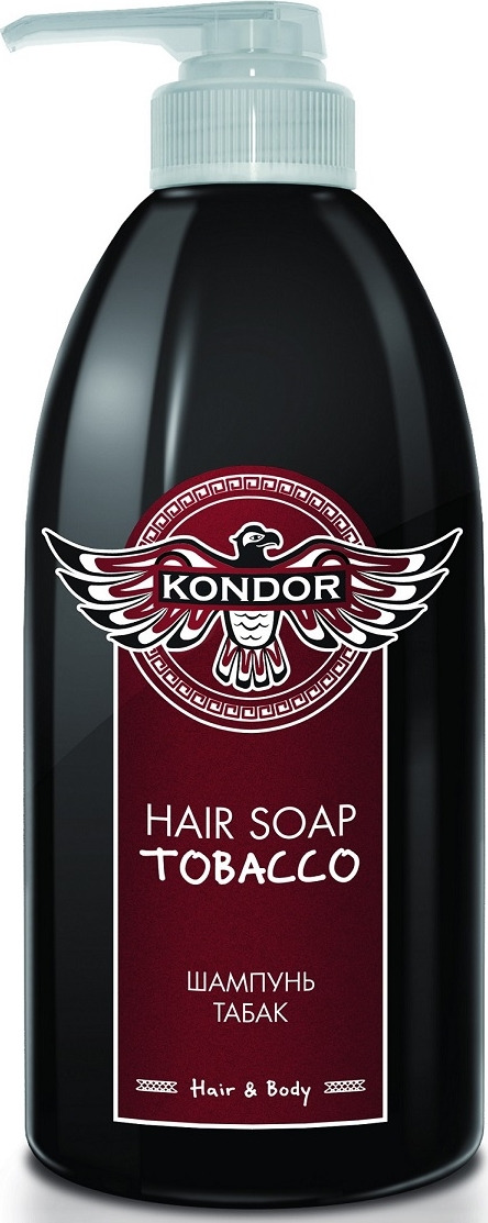 Шампунь для волос Kondor Hair&Body Табак, 750 мл kondor hair and body hair soap tobacco шампунь для мужчин универсальный с табаком 750 мл