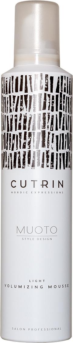 Мусс для волос Cutrin Muoto Light Volumizing Mousse, для объема легкой фиксации, 300 мл cutrin шампунь для волос и тела 300 мл