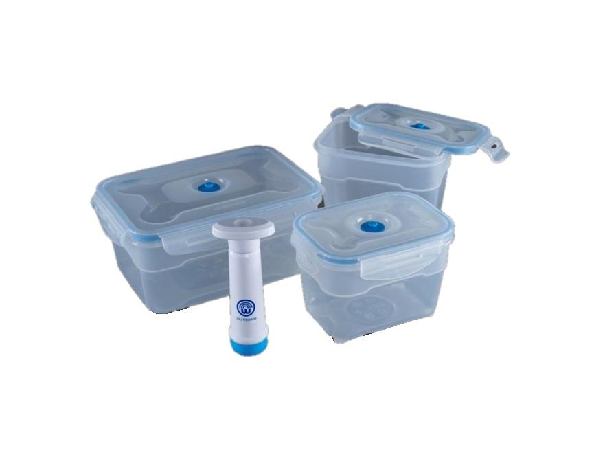 Набор пищевых вакуумных контейнеров Wonder Life, WL-S3-P, 4 предмета