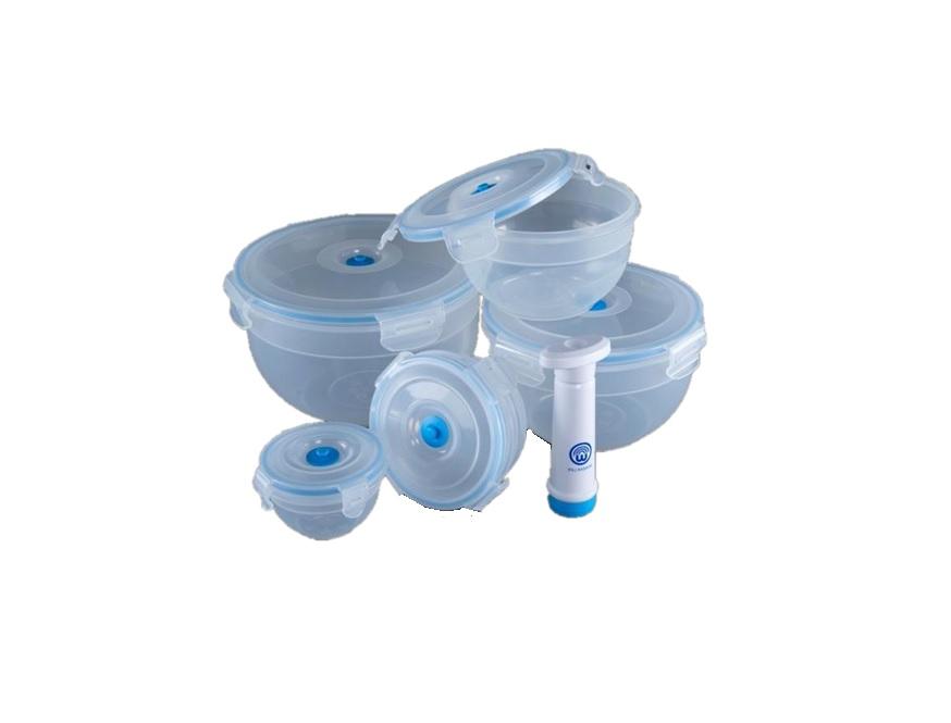 Набор пищевых вакуумных контейнеров Wonder Life, WL-S5-M, 6 предметов квас никола традиционный 1 л х 6 шт