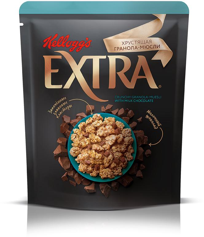 Гранола-мюсли Kellogg's, с молочным шоколадом, 300 г bionova мюсли хрустящие запеченные яблочные 400 г