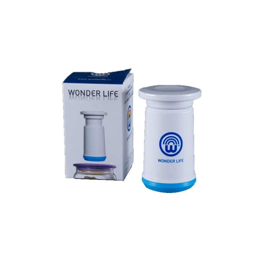 Насос Wonder Life, WL-PMP-Blue, для пищевых вакуумных контейнеров и пакетов, синий цена 2017