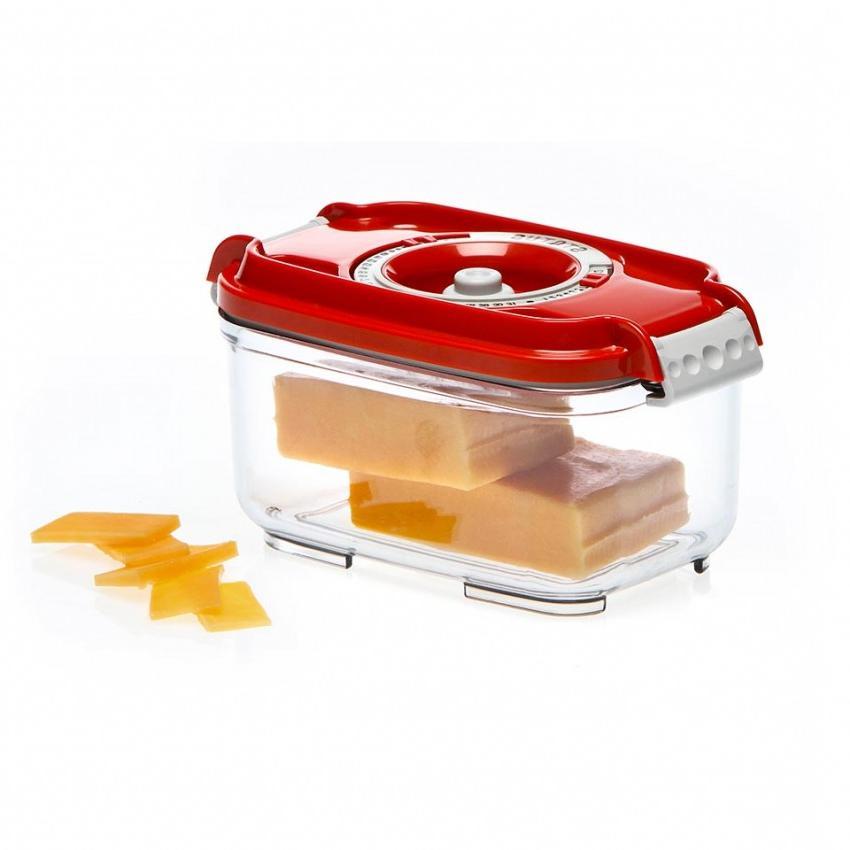 Пищевой вакуумный контейнер, Wonder Life, WL-ST-500-Rd, красный, 0.5 л цены