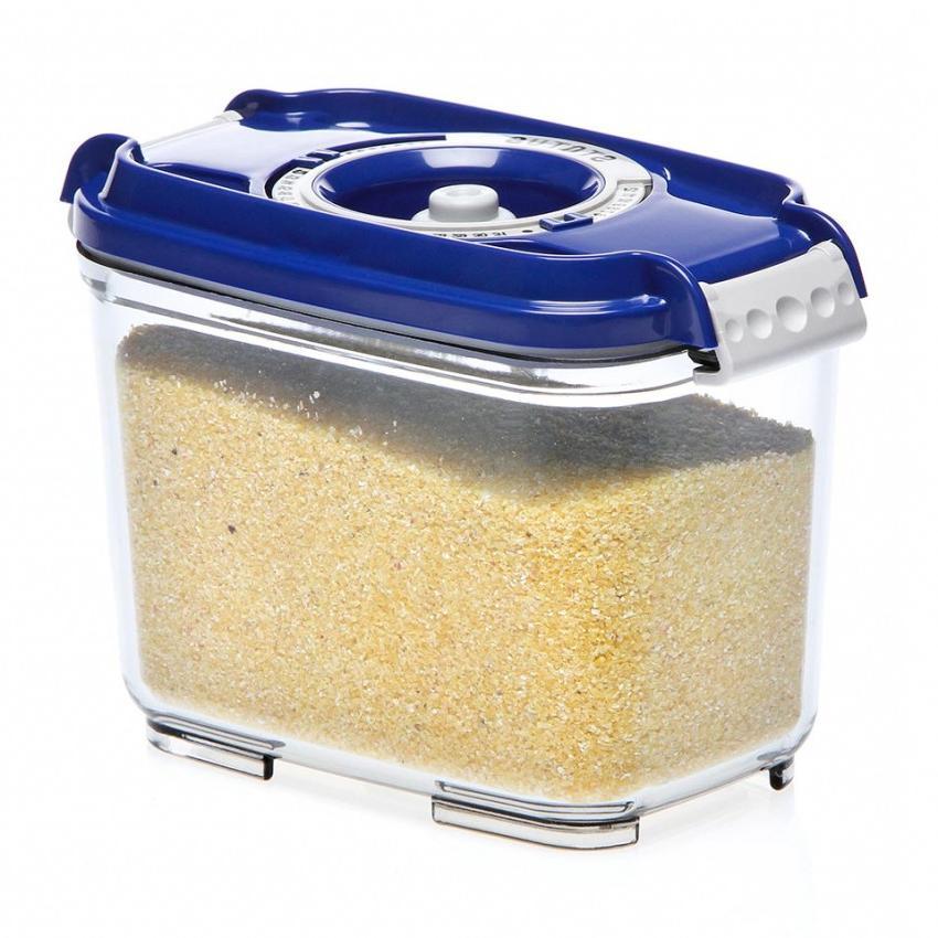 Пищевой вакуумный контейнер, Wonder Life, WL-ST-800-Blue, синий, 0.8 л контейнер вакуумный для хранения сыпучих продуктов prepara evak 1 36 л