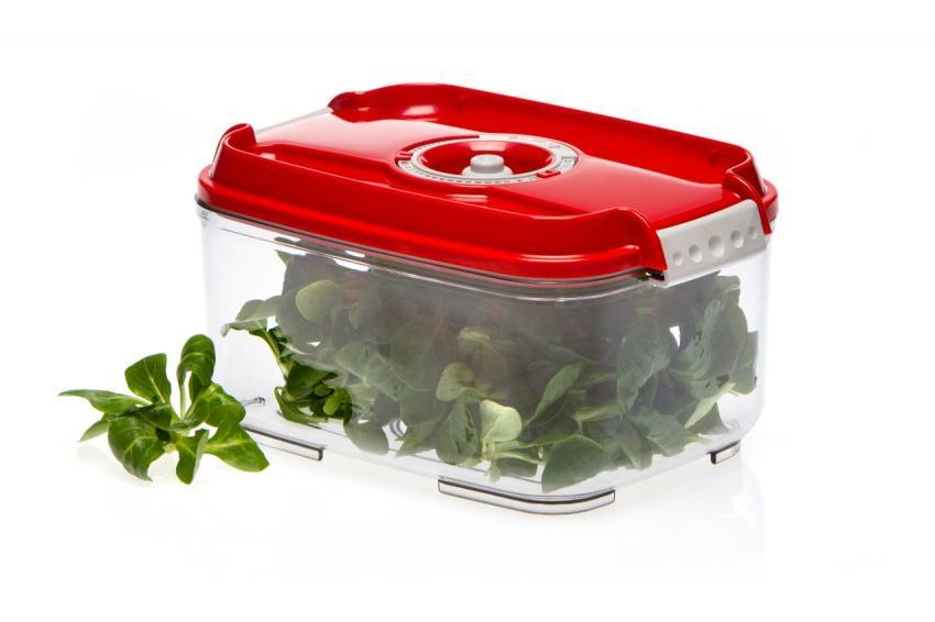 Пищевой вакуумный контейнер, Wonder Life, WL-ST-2000-Rd, красный, 2 л цены
