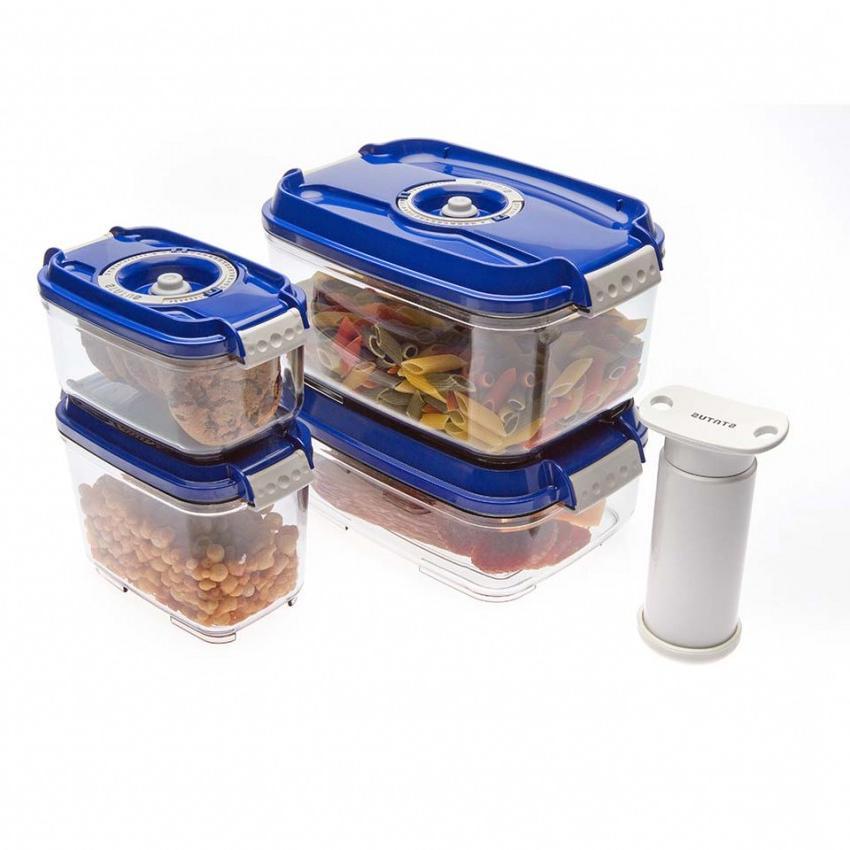Набор Wonder Life Пищевой вакуумный контейнер, синий, 4 шт + Насос, WL-ST-S4-P-Blu wonder page 4