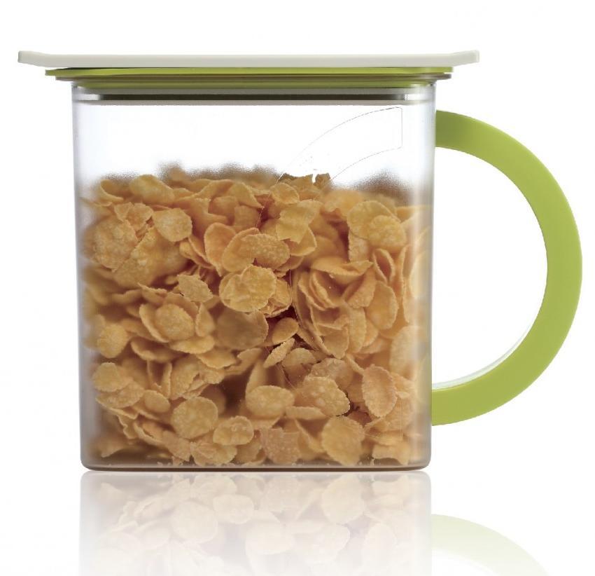 Контейнер вакуумный для пищи Wonder Life Вакуумный контейнер для сыпучих продуктов, WL-1500-C-GR, зеленый контейнер пищевой вакуумный bekker квадратный 330 мл