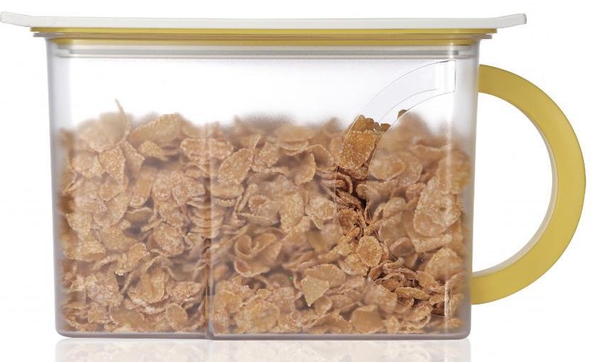 Контейнер вакуумный для пищи Wonder Life Вакуумный контейнер для сыпучих продуктов, WL-2300-C-Yel, желтый контейнер пищевой вакуумный bekker квадратный 330 мл
