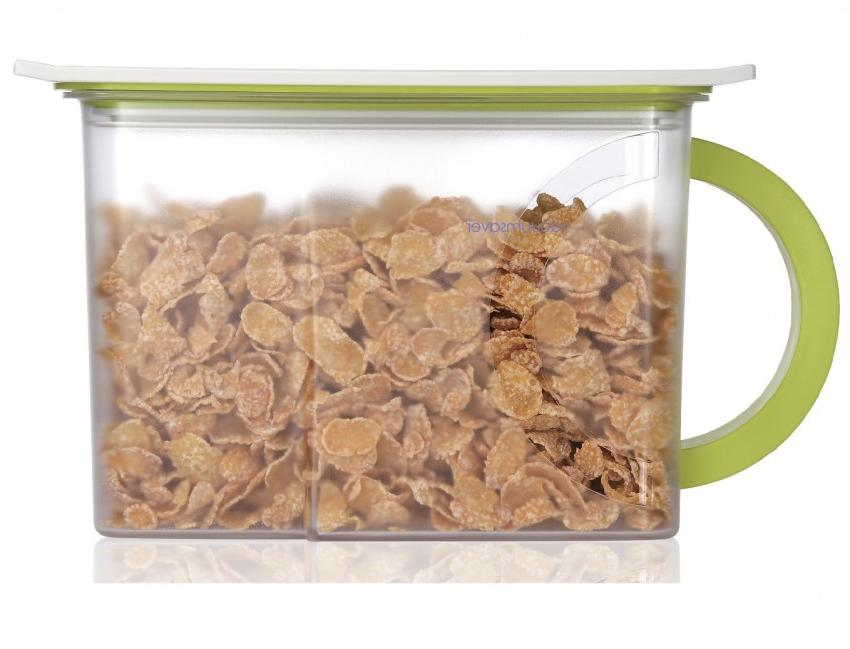 Контейнер вакуумный для пищи Wonder Life Вакуумный контейнер для сыпучих продуктов, WL-2300-C-GR, зеленый контейнер пищевой вакуумный bekker квадратный 330 мл