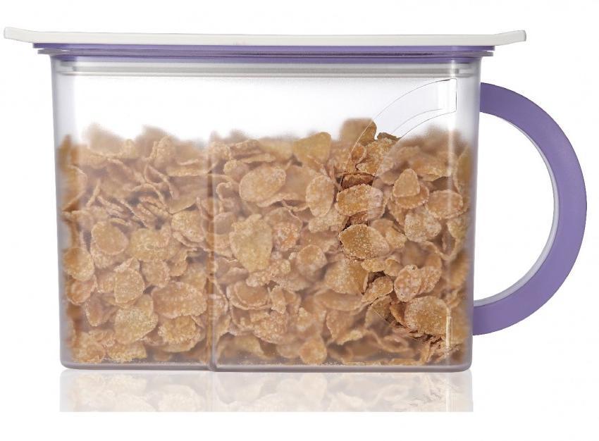 Контейнер вакуумный для пищи Wonder Life Вакуумный контейнер для сыпучих продуктов, WL-2300-C-Pur, фиолетовый контейнер пищевой вакуумный bekker квадратный 330 мл
