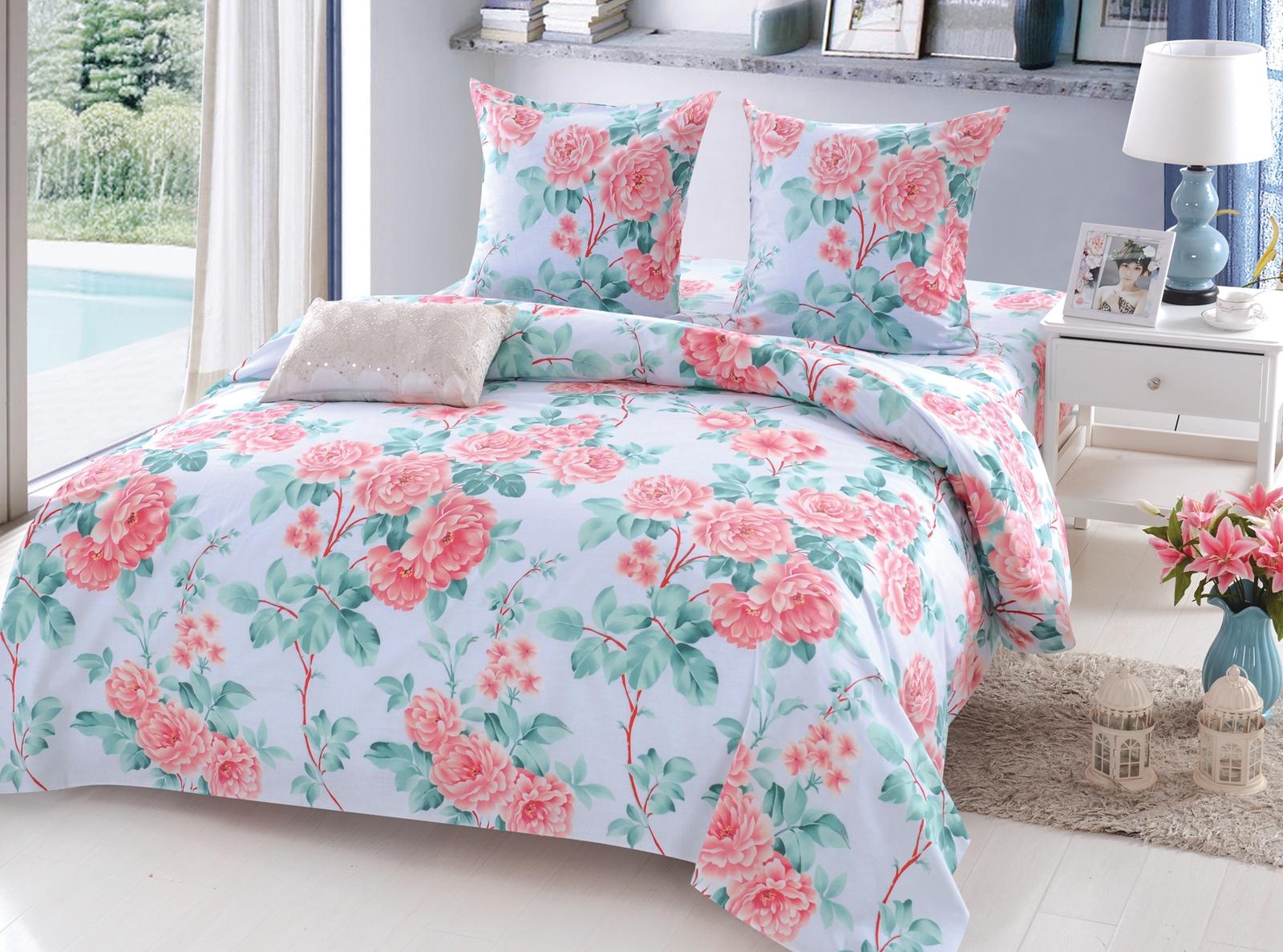 Комплект белья Amore Mio Belinda, 2-х спальный, цвет: голубой, розовый, зеленый. 11701170Постельное белье Amore Mio из поплина - это оригинальные дизайны и отменное качество. Поплин ткань натуральная, а следовательно прекрасно вентилируется. На ощупь - это нечто среднее между сатином и бязью. Ткань плотная, но при этом мягкая. Постельные комплекты ТМ Amore Mio добавят тепла и уюта в интерьер любой спальни.