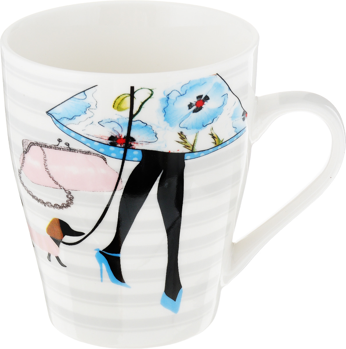 Кружка Loraine Fashion. Розовая сумочка, голубоые туфли, 340 мл. 223-3 кружка loraine цветы 340 мл мак