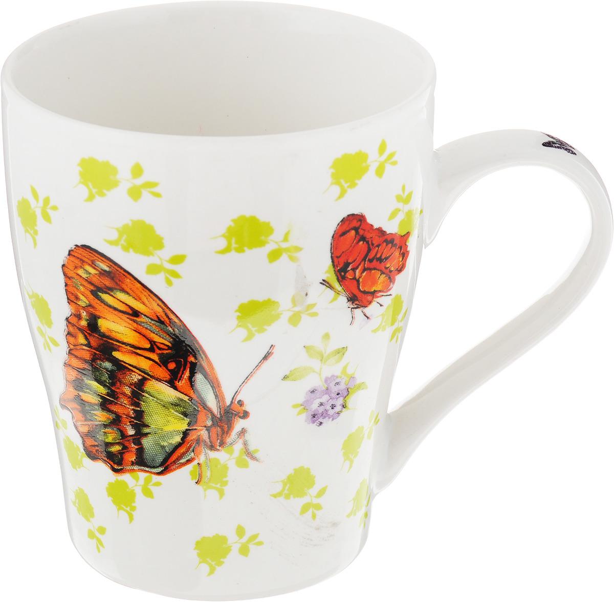 Кружка Loraine Бабочки, 340 мл. 26586-2