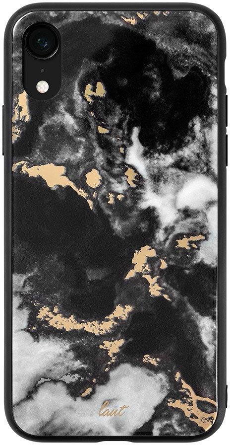 Чехол-накладкаLautMineral GlassдляAppleiPhoneXR, Black 6 11 gd011 photoelectric conversion male watch japan movt mineral glass date display