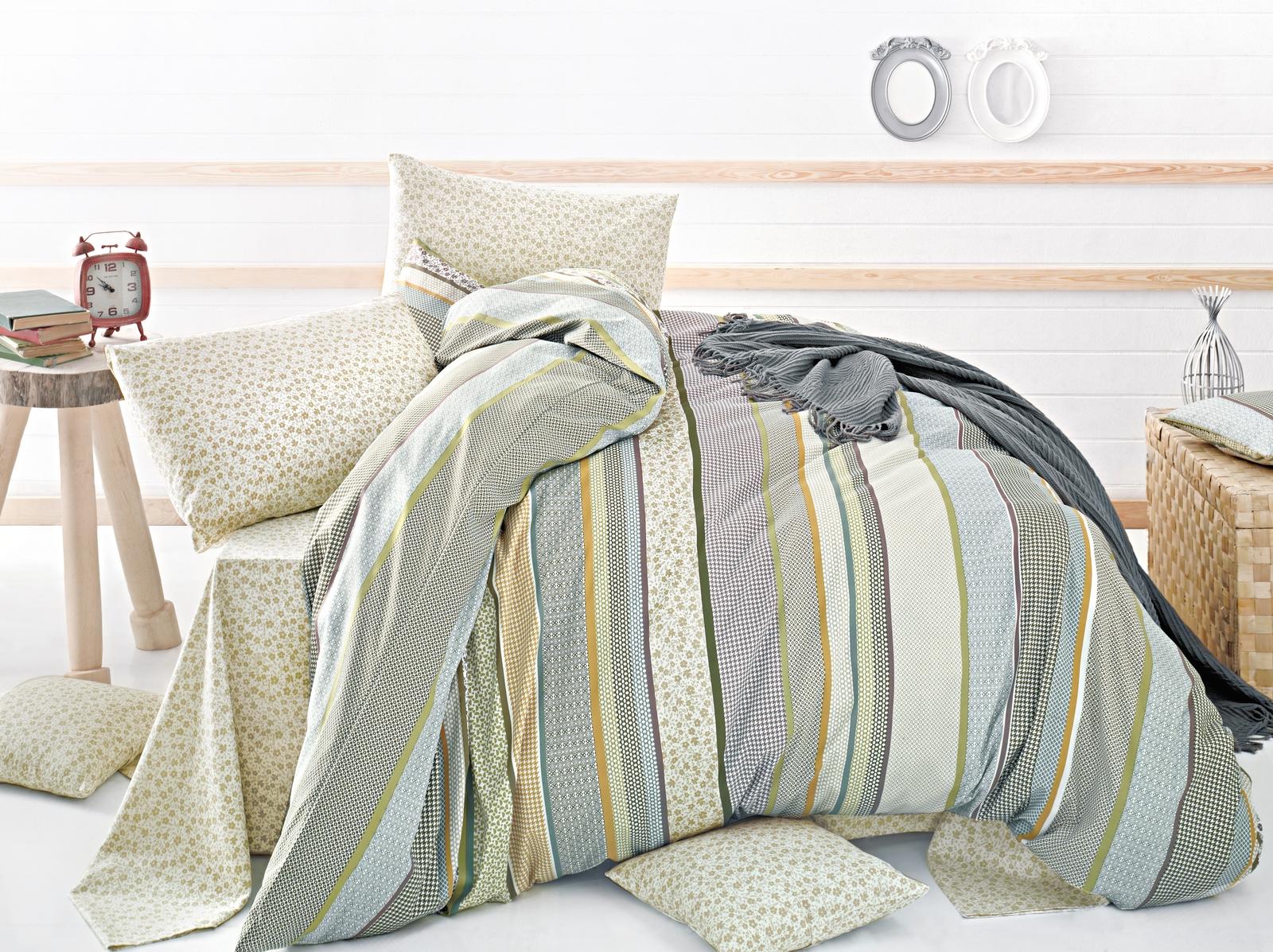 Комплект белья Issimo Home Palmers, 1,5-спальный, наволочки 50x70, цвет: бежевый