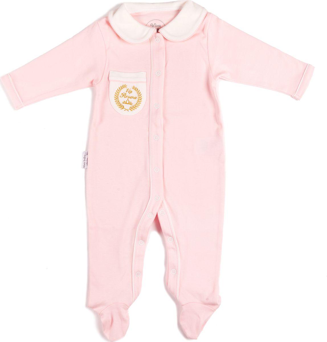 Комбинезон домашний Viva Baby комбинезон домашний для новорожденных viva baby цвет розовый d3103 2 размер 74